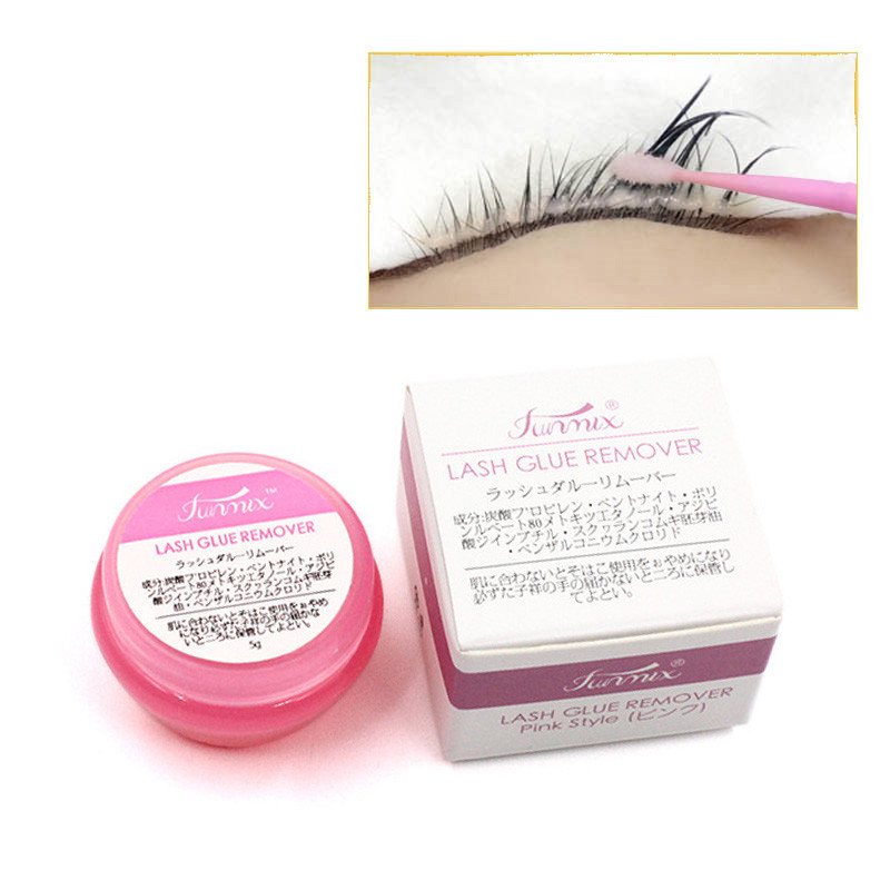 HOT 5g Pink Eyelash Extension Glue Remover Cream Or Clear-white/Dark-black Eyelash Glue For Lashes Remover Makeup Tools TSLM2