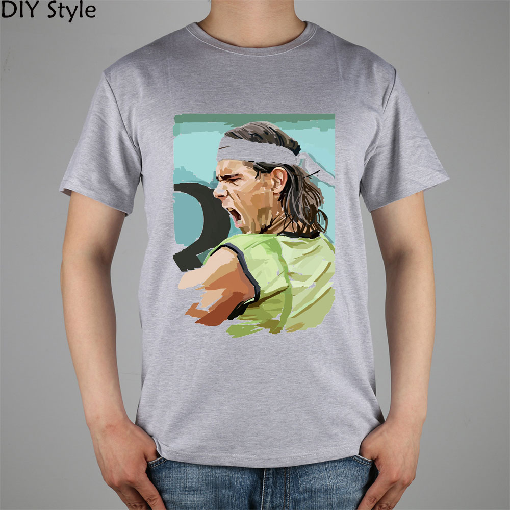 NADAL cool awesome head photo top lycra cotton short sleeve T-shirt Fashion Brand t shirt men new high quality