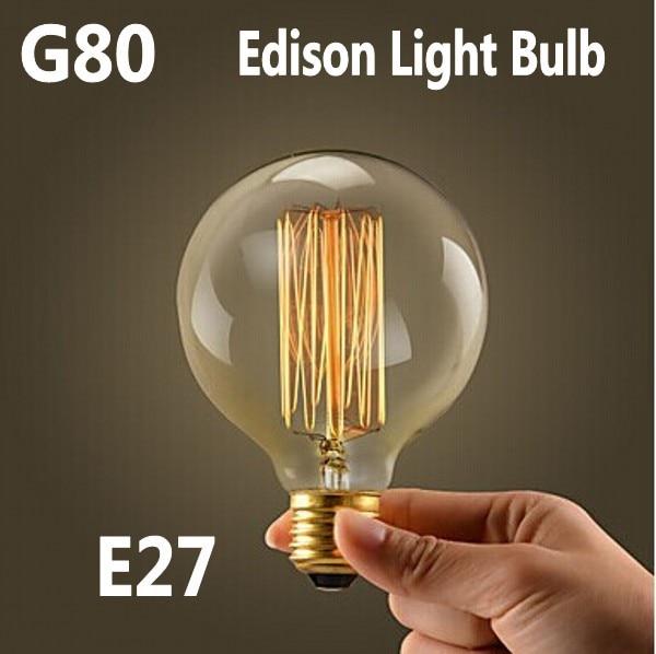 Light Bulbs Faithful Lightinboxg80 Warm White E27 110v 220v Halogen Bulb,home Decoration Edison Retro Incandescent Vintage Tungsten Light Bulbs Lamp
