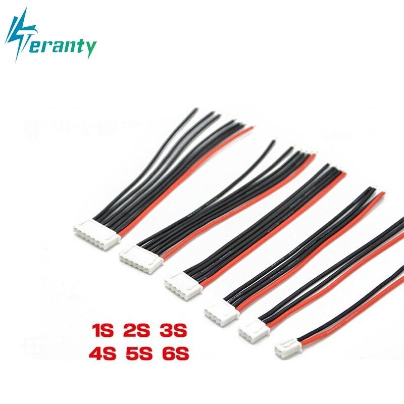 1s 2s 3s 4s 5s 6s 22AWG Cable 10CM (100MM) RC Lipo Battery Charger Wiring 7.4v 11.1v 14.8v 22.2v For IMAX B3 B6 Balance Charger(China)
