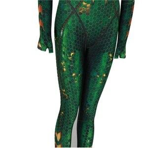 Image 5 - New Women Kids Movie Aquaman Mera Queen Cosplay Costume Zentai Bodysuit Suit Jumpsuits
