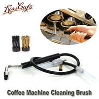 watchget Coffee Machine Clean Brush Grouphead High Pressure Steam Brushes Professional Coffee Machine Cleaning Accessories