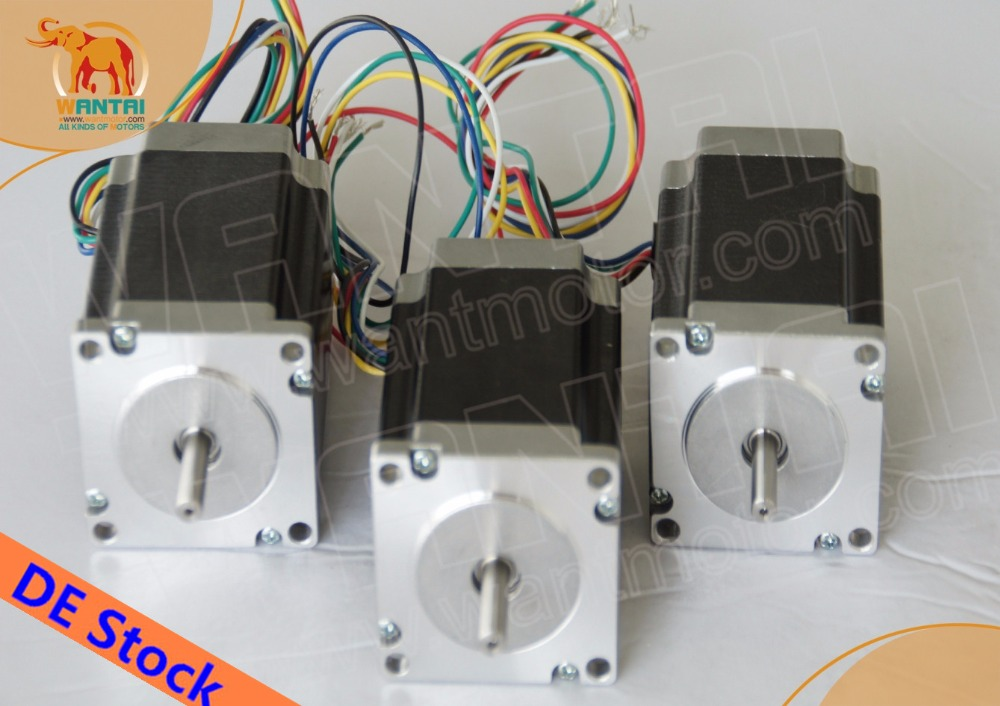 DE STOCK! Wantai 3PCS Nema23 Stepper Motor 57BYGH420 2.0A 185oz-in 56mmreprapFoam CNC Milling Machine Metal