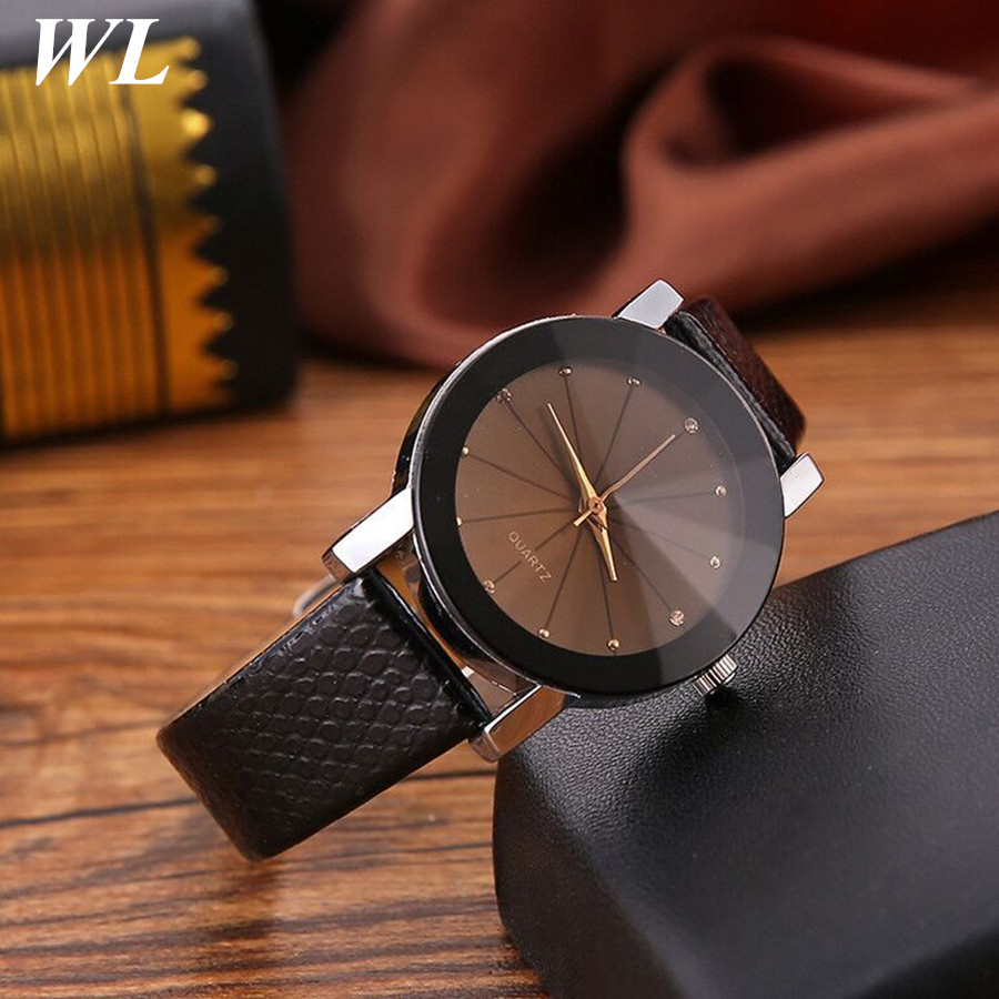 10pcs/lot Wholesale Newest Hot Sale Fashion Good Quality Women Men Lovers Alloy Leather Watch Couples Quartz Wristwatch In Stock
