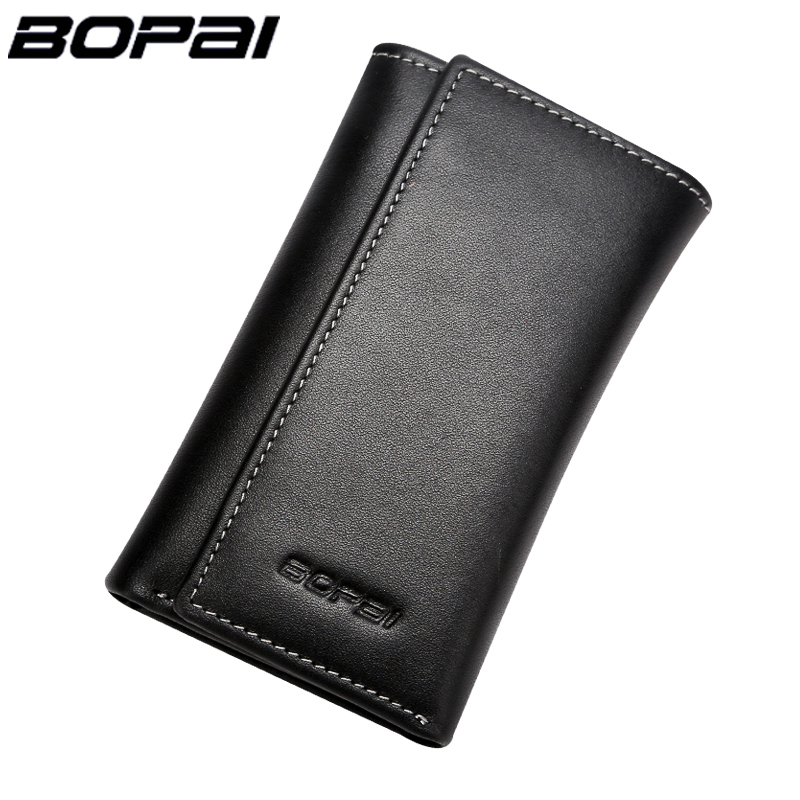 Multifunctional Key Wallet Holder Genuine Leather Men Wallet Key Hooks Small Card Wallet With Car Key Holders Classic Key Cover