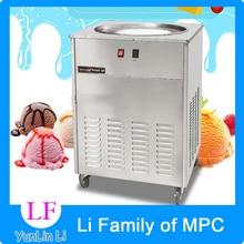 цены 48cm Single Round Pan Fried Ice Cream Roll Machine,Commercial Fried milk yogurt machine