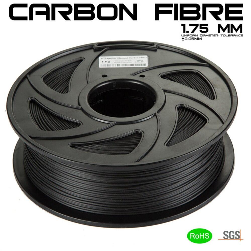 Nova impressora de filamento PLA 3D consumíveis 1.75mm 1 kg material A tenacidade de fibra de carbono de fibra de carbono contendo 3D caneta suprimentos