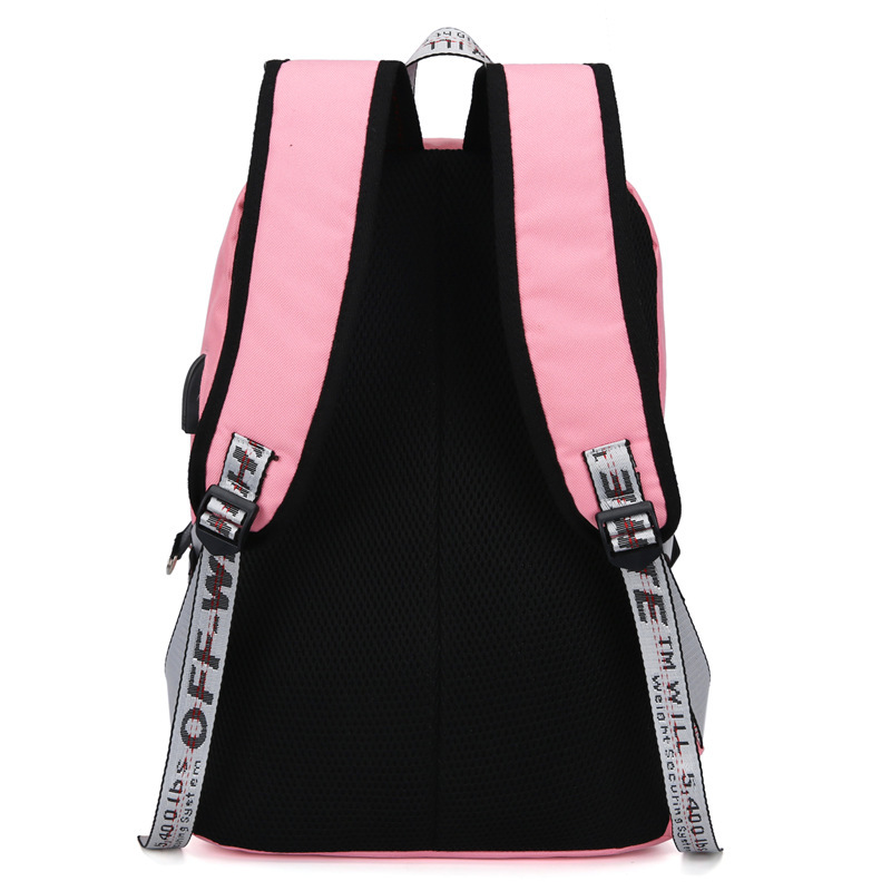 Waterproof USB Charging Women Oxford Backpacks School Bags For Teenagers Girls Student School Backpacks Female Travel Book Bags in Backpacks from Luggage Bags