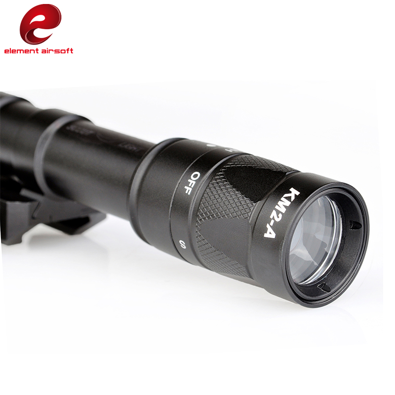elemento airsoft m600w de aluminio lanterna led 04
