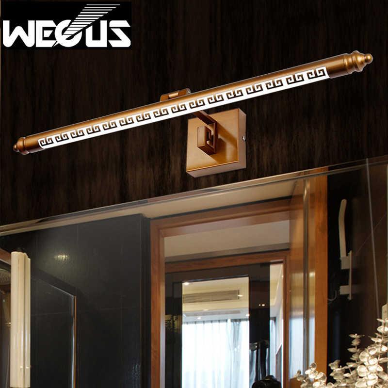 Ретро светодиодный зеркальный передний светильник влагостойкий шкаф для ванной комнаты над стеной свет в китайском стиле 8 Вт 50 см