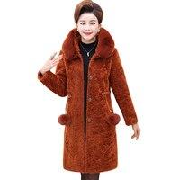 2018 New Faux Fur Coat Thick Warm Fur Jacket mink Luxury Long Coat Imitation Fur Jacket Women Outerwear Plus Size 4XL NW932