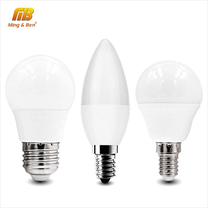 [MingBen] 2pcs LED Light Bulb E27 E14 220V 240V 5W 7W 9W 12W 15W Cold White Warm White For Living room Bedroom Kitchen Foyer