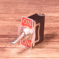 1PC KN3 Series 3 Screw Toogle Switch 10A 250V 3Pins 2 Positions ON-ON Rocker SPDT Black Switch Car Accessories