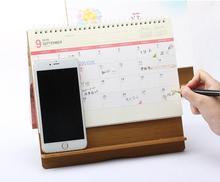 2019 Desk Calendar Cartoon Wooden Calendar for Daily Planner 2019 as Work Weekly Planner
