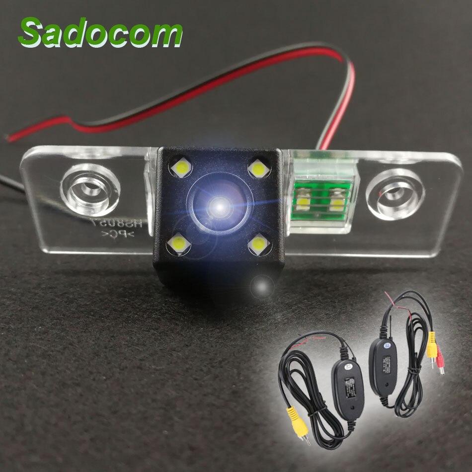Dla Skoda Octavia 2008-2013 HD Car CCD 4 widzenie nocne LED rewers Backup Parking wodoodporna kamera cofania wstecznego