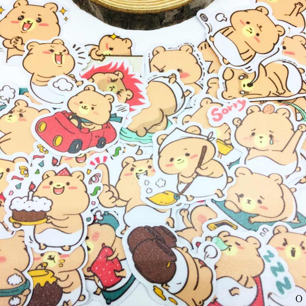 40 Uds. Dibujos animados pegatina de oso Anime icono lindo pegatinas regalos para niños maleta para portátil guitarra nevera bicicleta coche de juguete