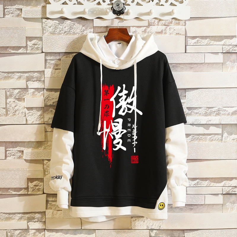 Anime The Seven Deadly Sins Envy Greed Cosplay Hoodie Sweatshirt Costume Spring&Autumn Men Women Pullover Fake Two Piece Coat