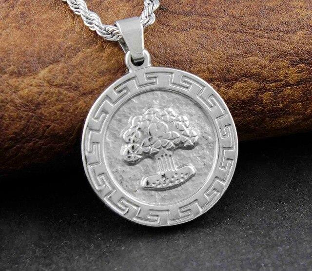 Mens Celtic Jewelry Tree Of Life Greece Key Medal Pendant Charm
