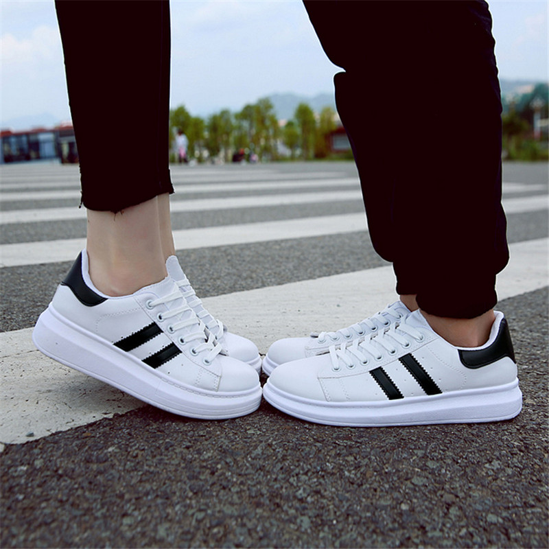 Women 's shoes Hot sale fall small white shoes flat casual shoes with students outdoor canvas shoes Genuine Leather EU 35-40 kiind of new white women s size small s sheer textured sleeveless blouse $39