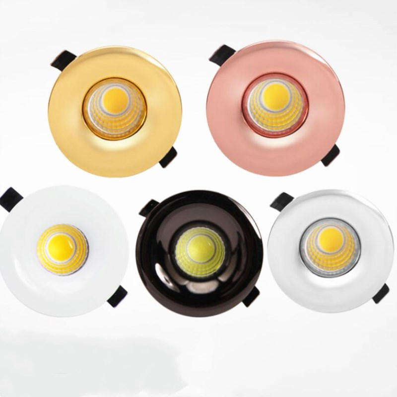 Dimmable Mini COB 5W LED Spotlights Cabinet Spot light Lamps Foyer living sitting recessed Black White Gold Rose Led Down light in Downlights from Lights Lighting