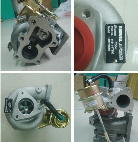 Turbo Auto pièces TD04L turbocompresseur Kit 14411-7T600 49377-02600 pour pour NISSAN Pickup Navara D22 3.2L NS25