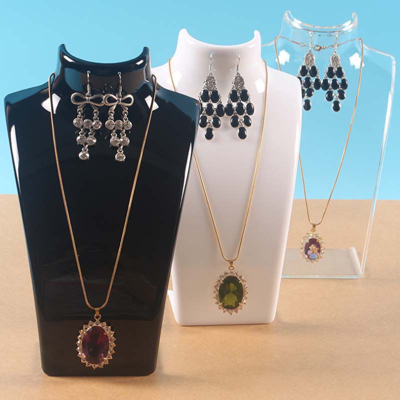 Mordoa Three Colors 20*13.5*7.5CM Mannequin Necklace Jewelry Pendant Display Stand Holder Show Decorate Jewelry Display Shelf