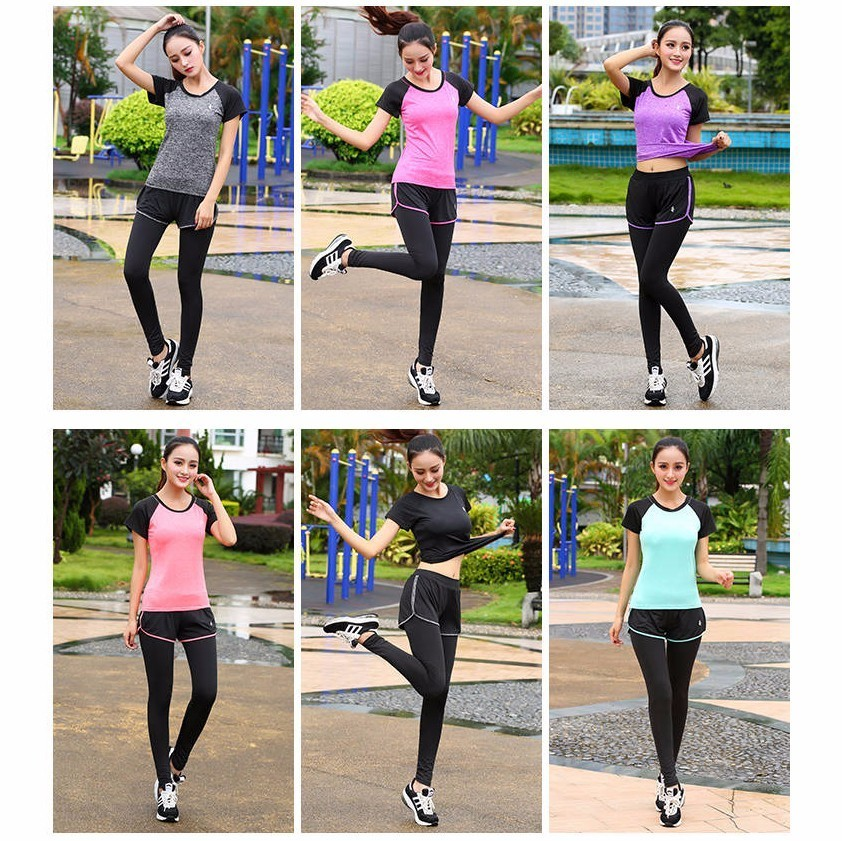 New 2 Pcs Women Yoga Set Fitness Clothing Sportswear For Female Workout Sports Clothes Athletic Running Yoga Suit Leggings Pants in Yoga Sets from Sports Entertainment