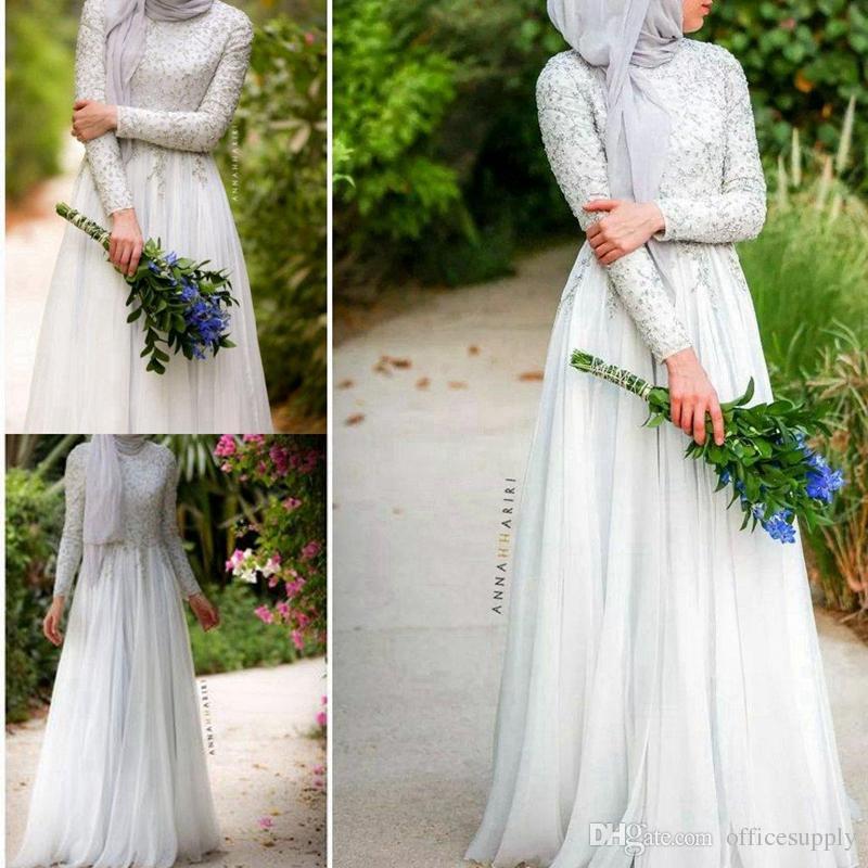 Popular Long Sleeve Muslim Wedding Dress Buy Cheap Long Sleeve Muslim Wedding Dress Lots From