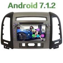 "7"" Quad Core 2GB RAM Android 7.1.2 WiFi BT 4G Car DVD Player Radio Stereo GPS Navi Screen For Hyundai SANTA FE 3 Hole 2006-2012"