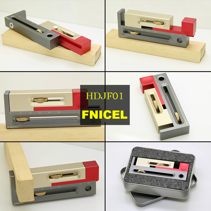 Tools : Woodworking Table Saw Gap Slot Regulator Slot Ruler Make The Mortise and Tenon Movable Measuring Block Length Compensation Tool