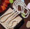 Ожерелье настоящие жемчужины, Пресной воды перл дешевые ювелирные изделия в хорошее качество 120 / 160 / 200 / 260 см длинные