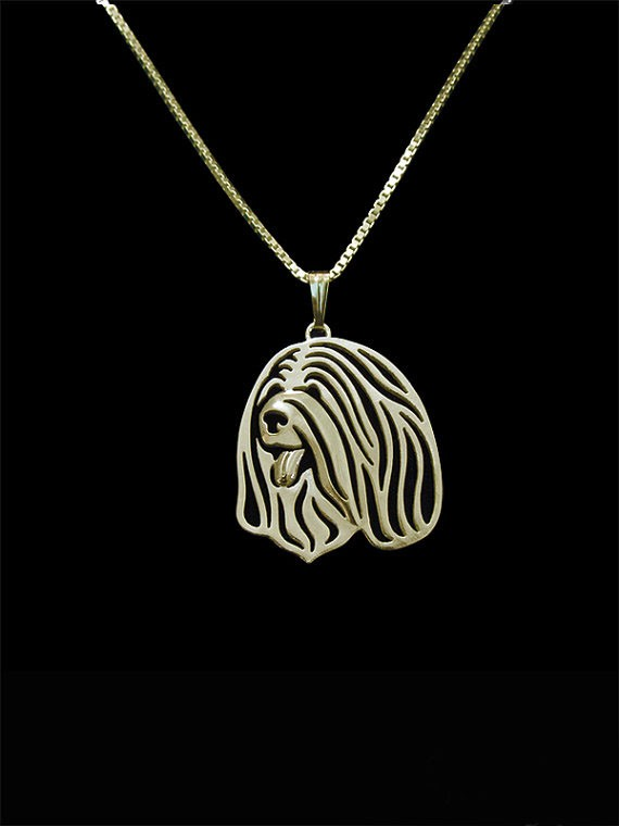 2016 new fashion Tibetan Terrier Gold pendant and necklace for pet lovers dog animal charms can drop shipping A209G