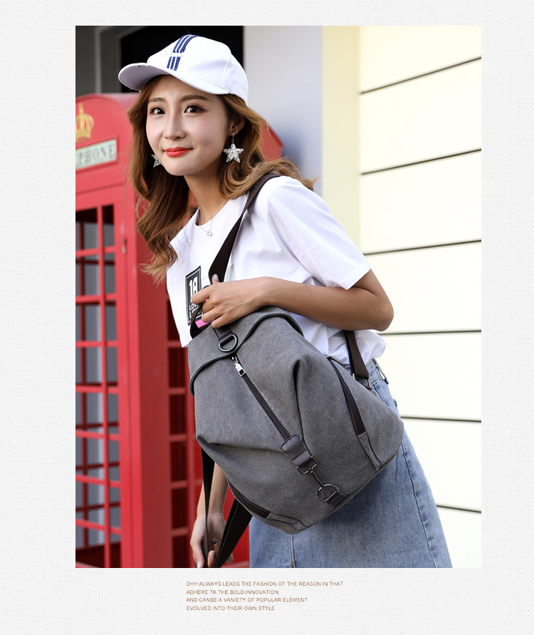 2019 new men and women personalized retro fashion canvas shoulder bag large travel bag2019 new men and women personalized retro fashion canvas shoulder bag large travel bag