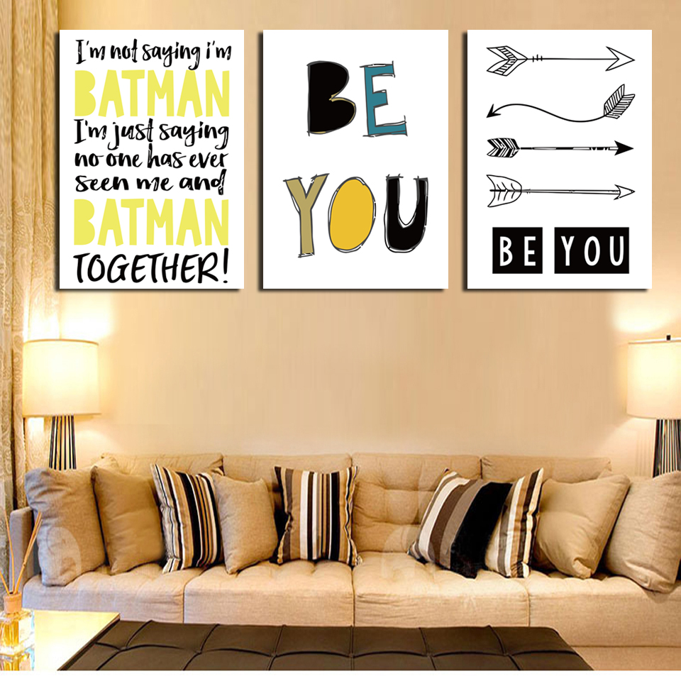Aliexpress.com : Buy 3 pieces European be your letter picture print ...