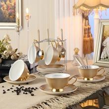 Top-grade Ceramic Bone China Coffee Set British Porcelain Tea Set Ceramic Pot Creamer Sugar Bowl Teatime Teapot Coffee Cup Mug