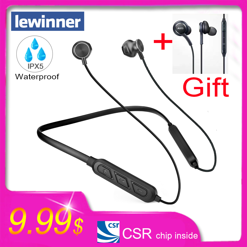 Lewinner X7 plus Bluetooth Kopfhörer Integrierte Mic Drahtlose Leichte Neckband Sport Kopfhörer earbuds stereo auriculares