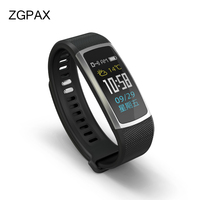 ZGPAX Bluetooth 4 0 Smart Wristband T8 With Passometer Clock Heart Rate Touchpad Fitness Tracker Waterproof