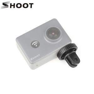 Image 1 - SHOOT Action Camera Mini Tripod Adapter With 1/4Screw Mount for GoPro Hero 7 6 5 Sony Yi 4K SJ4000 SJ5000 H9 Go Pro Accessory