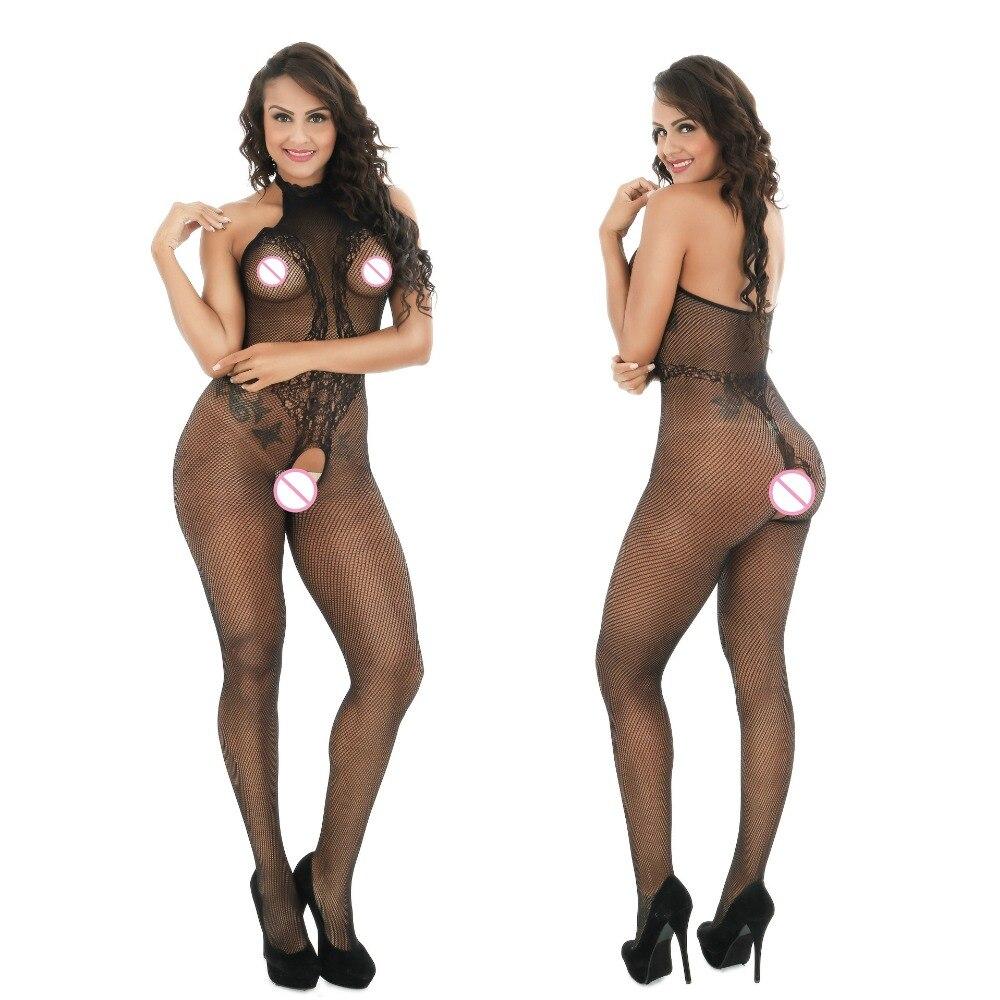 2017 Big Elastic Sexy Lingerie Hot Erotic Underwear Women's BodyStocking Lenceria Erotica Mujer Fishnet Erotic Plus Size Lace