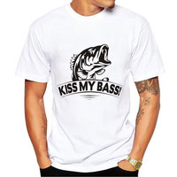 Summer Men Funny Fishiong Fish Printed T Shirt Fashion Novelty Short Sleeve Tee Tops Homme Clothing
