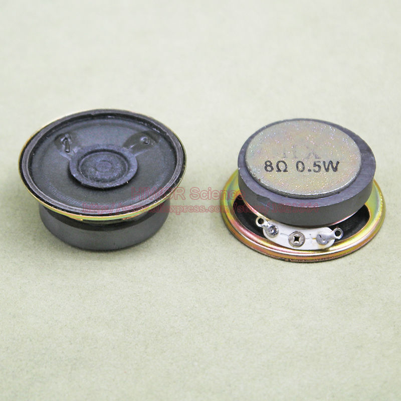 2W 4 Ohm 50mm Dia Round External Magnet Electronic Speakers Trumpet