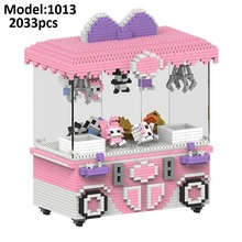 HC Mini Blocks Cartoon Building Toy merry go round Game Model UFO CATCHER Building Bricks Brinquedos for Kids Gift 1013