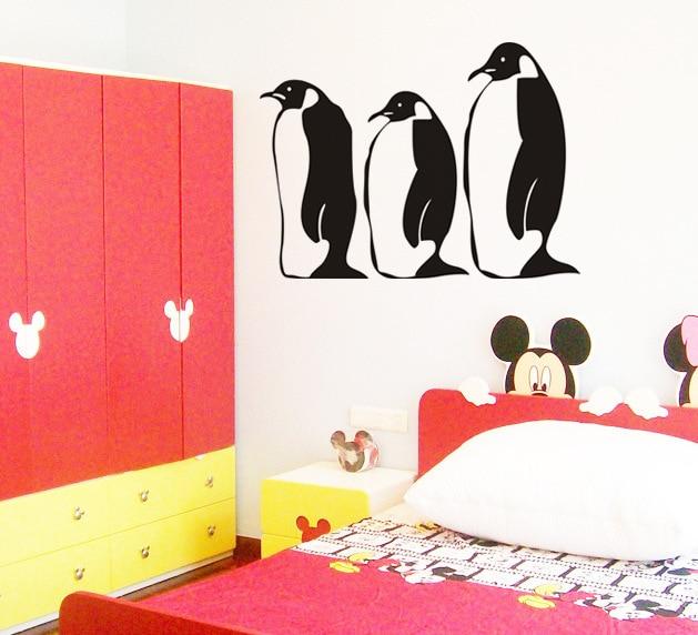 Penguin Wall Decals Vinyl Stickers Home Decor Bedroom
