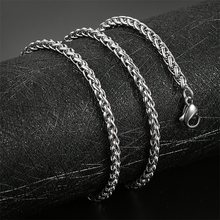 AZIZ BEKKAOUI 3-6mm Stainless Steel Chain Necklaces For Man Women Silver Color Flower Basket Chains Don't Fade Jewelry(China)
