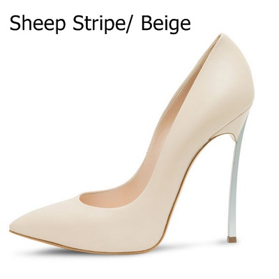 Sexy Metallic Leather Stiletto Blade Heel Pumps Candy Color Pointed Toe Slip-on Pumps Women Dress NightClub Shoes M049 цена