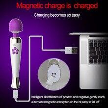 Rechargeable Magic Wand Massager Vibrator