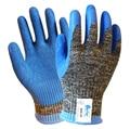 Aramid Fiber Gloves Steel Gloves Latex Coated EN388 5 Grade Anti Cut Work Gloves