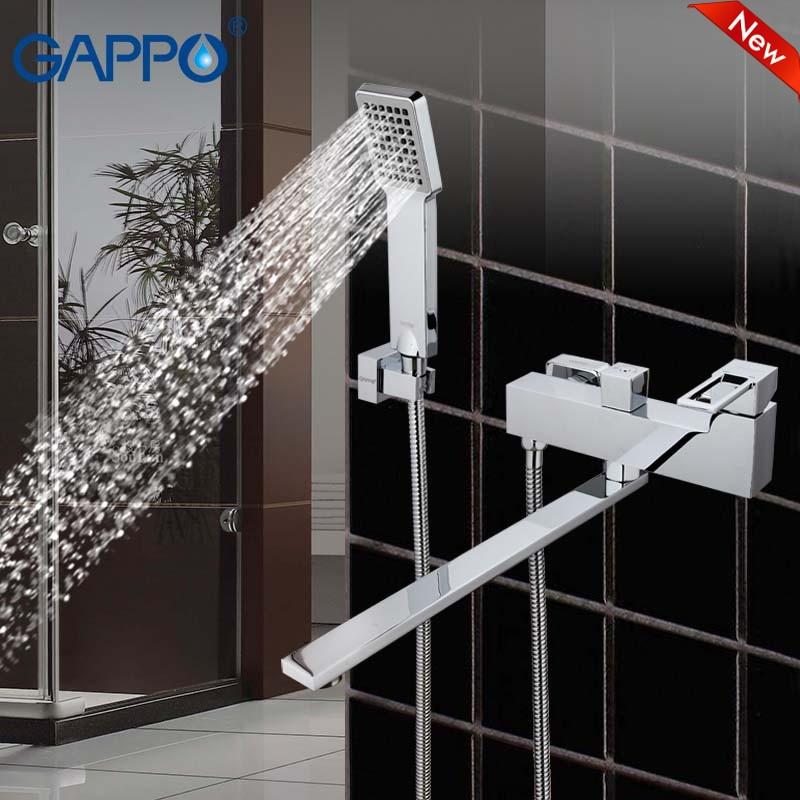 GAPPO high Quality Shower system waterfall faucet mixer bathroom taps wall mounted Brass bathtub sink faucet G2240 смеситель gappo g2240