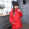 Children's Down Jacket Girls Long Thick  2016 New Fashion Hooded Silm Warm Girl Winter Outerwear Coat Christmas Clothing