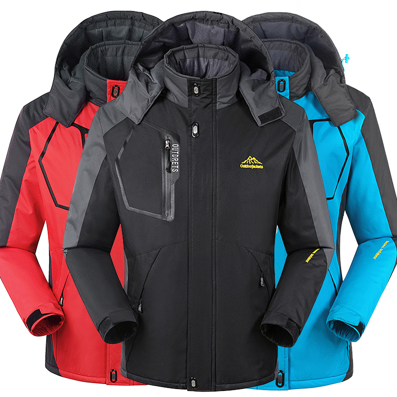 Winter men Waterproof Jacket Women Outwear thermal jacket and coat thick outwear Windbreake warm jackets 8XL,YA367